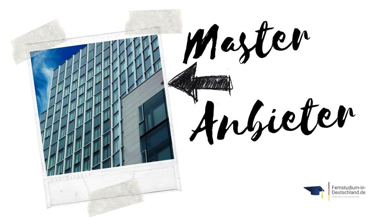 Anbieter Fernstudium Medieninformatik Master