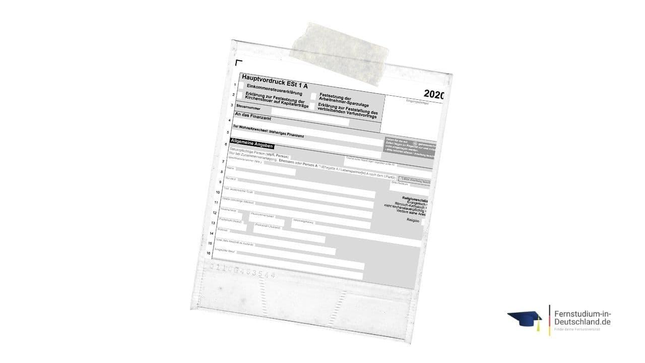 Fernstudium steuerlich absetzen Hauptvordruck Einkommenssteuererklärung
